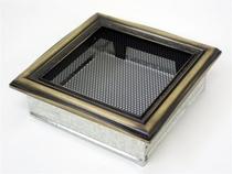 Решетка вентиляционная 17х17 рустик (гальванизированная) KRATKI (Польша)