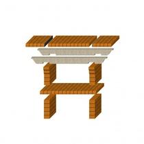 Стол дополнительный REF-780 для кирпичных грилей