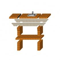 Стол дополнительный REF-782 для кирпичных грилей