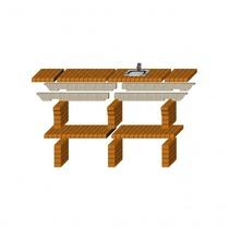 Стол дополнительный REF-788 для кирпичных грилей