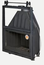 Альфа 800 с контргрузом, черный шамот (EcoKamin) топка каминная