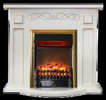 Портал Аспен STD белый с золотой патиной 920х855х360 (Inter Flame)