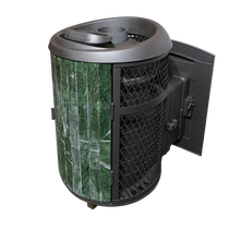 Атмосфера - чугунная печь банная с комбинированной облицовкой 18-25 м3