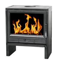 BARUN (Plamen) эмалированная черная глянцевая чугунная печь-камин