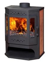Бавария Призматик с плитой и теплообменником (EcoKamin) печь-камин