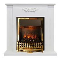 Портал Capri STD белое дерово делюкс 900х900х280 (Royal Flame)