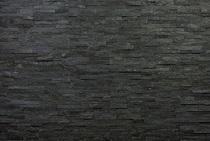 3D-панели из кварцита натурального, цвет: черный, м2