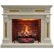 Обрамление CORSICA 3D 26 белый дуб (Real Flame)