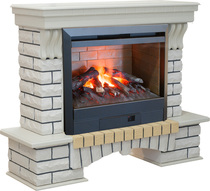 Обрамление COUNTRY 3D 26 белый дуб (Real Flame)