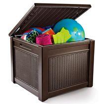 Стол-сундук Cube Rattan Box 208L коричневый (Израиль)