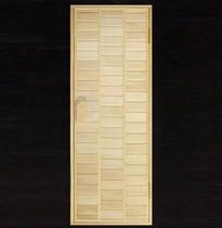 Дверь деревянная №10 (кедр, липа) для бани и сауны 1880*680 мм