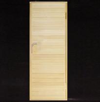 Дверь деревянная №1 (кедр, липа) для бани и сауны 1880*680 мм