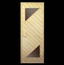 Дверь деревянная №2 (кедр, липа) для бани и сауны 1880*680 мм