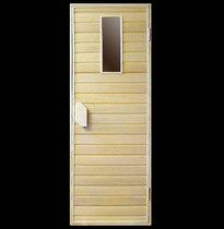Дверь деревянная №3 (кедр, липа) для бани и сауны 1880*680 мм