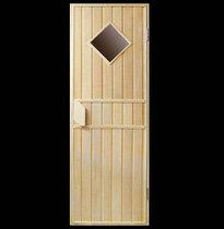 Дверь деревянная №4 (кедр, липа) для бани и сауны 1880*680 мм