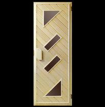 Дверь деревянная №6 (кедр, липа) для бани и сауны 1880*680 мм
