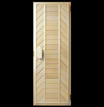 Дверь деревянная №7 (кедр, липа) для бани и сауны 1880*680 мм