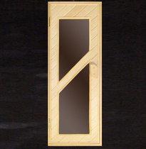 Дверь деревянная №8 (кедр, липа) для бани и сауны 1880*680 мм