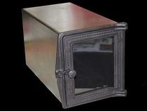 Духовка стальная с чугунной дверцей со стеклом ДХ1,5-ДТ4СС, 250*280*480