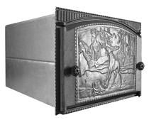 Духовка стальная с чугунной дверцей ДХ1,5-ДТК2, 375*300*500