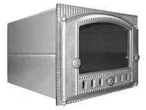 Духовка стальная с чугунной дверцей со стеклом ДХ1,5-ДТК2С, 375*300*500