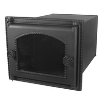 Духовка стальная с чугунной дверцей со стеклом ДПС-ДТ-6АС, 345х289х500