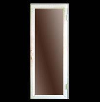 Дверь деревянная №12 бронза (кедр, липа) для бани и сауны 1880*680 мм