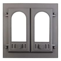 """Дверка каминная чугунная со стеклом ДК-6С """"Горница"""", 500*500мм"""