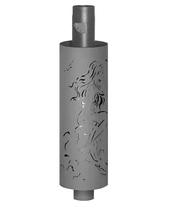 Дымоход FERINGER стартовый экономайзер с резной корзиной для камней и шибером Ф115 L1м