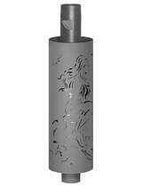 Дымоход FERINGER стартовый с резной корзиной и регулируемой конвекцией + (регистр) L1м