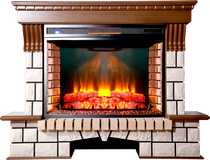 Портал Экстер Р33 дуб светлый 1410х1090х450 (Inter Flame)