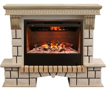 Обрамление STONE NEW 3D 26 белый дуб с патиной (Real Flame)