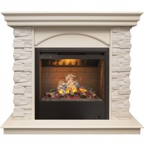 Обрамление ELFORD 3D HL белый дуб (Real Flame)