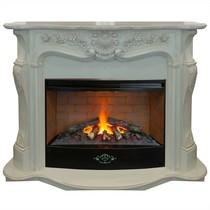 Обрамление ELLADA 3D 33 белый дуб с патиной (Real Flame)