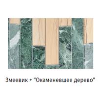 """Облицовка на стену (фасад) """"Ламель"""" - Змеевик + Окаменевшее дерево, 1 м2"""