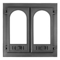 """Дверка каминная чугунная со стеклом ДК-8С """"Горница-2"""", 600*600мм"""