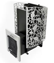 Печь для бани КАСТРАМА 3.0 с закрытой каменкой и карманами для камней, дверка чугунная ДТ-4