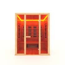 Инфракрасная сауна 3-х местная (кедр) с керамическими излучателями, 180*105*200 см