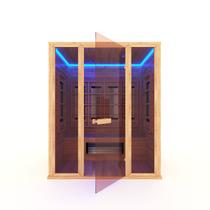 Инфракрасная сауна 4-х местная (кедр) с керамическими излучателями, 170*130*200 см