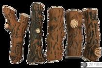 Керамические дрова темные ZeFire, 5 шт