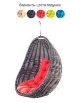 Подвесное плетеное кресло COCON без стойки (черный)