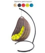 Подвесное плетеное кресло COCON (коричневый)