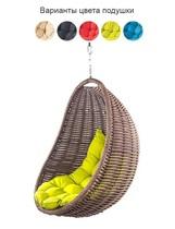 Подвесное плетеное кресло COCON без стойки (коричневый)