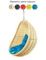Подвесное плетеное кресло COCON без стойки (золотой)