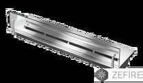 Прямоугольный контейнер со стеклом для биотоплива 700 ZeFire 65х700х200 мм