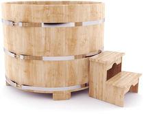 Купель кедровая круглая, 110*100*4 см