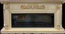 Каминокомплект Лорд FS50 бежевый с золотой патиной 1780х900х340 (Inter Flame)