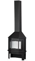 Мюнхен пристенно-угловой черный (EcoKamin) печь-камин