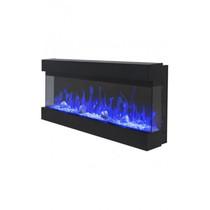 NEWYORK 36 черный (REAL FLAME) электрокамин навесной/встраиваемый