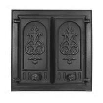 Дверка каминная Pisla НТТ-115 (с защитным экраном от искр), 500*500мм